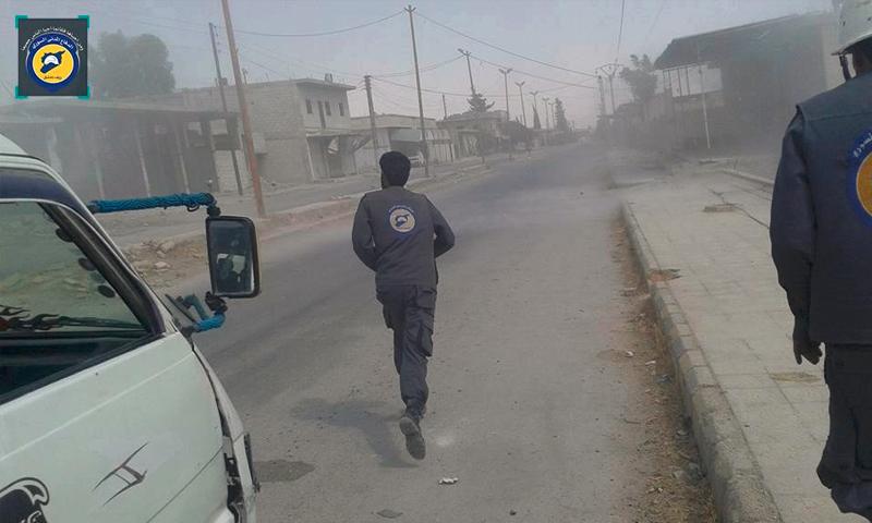 القصف على بلدات الغوطة الشرقية 5 تموز ( صفحة الدفاع المدني في الغوطة فيس بوك)