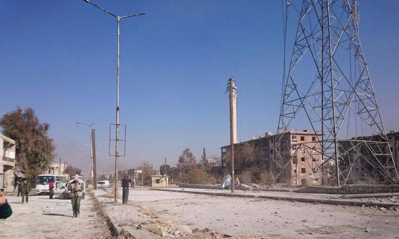 حي الحيدرية في مدينة حلب عقب سيطرة قوات الأسد عليه- الاثنين 28 تشرين الثاني (فيس بوك)