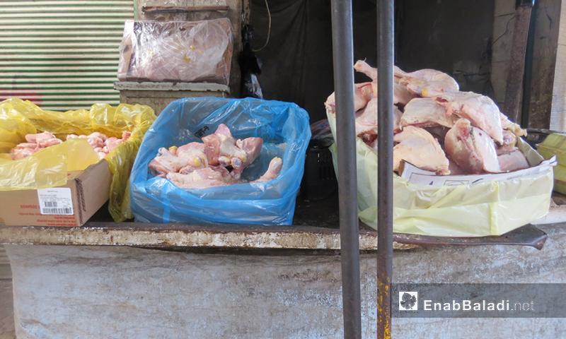 محل فروج في مدينة إدلب - كانون الأول 2016 (عنب بلدي)
