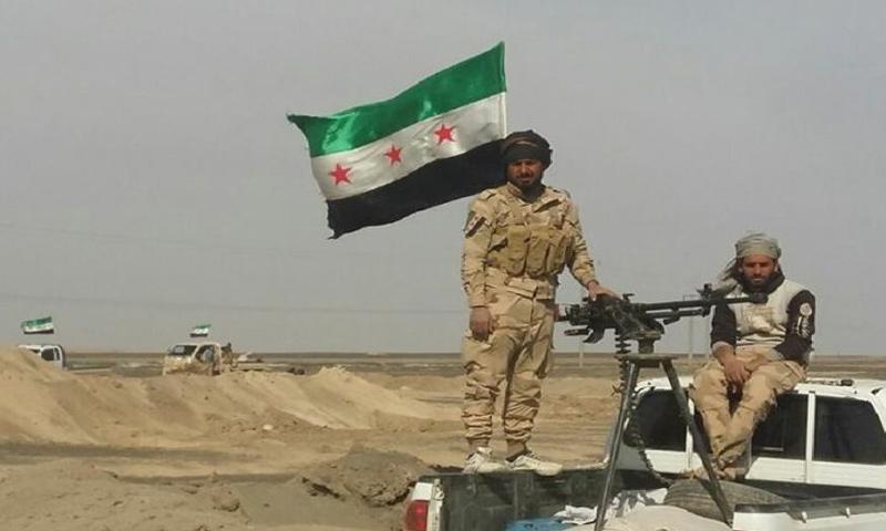 """عناصر من """"قوات النخبة"""" في ريف الرقة (تيار الغد)"""