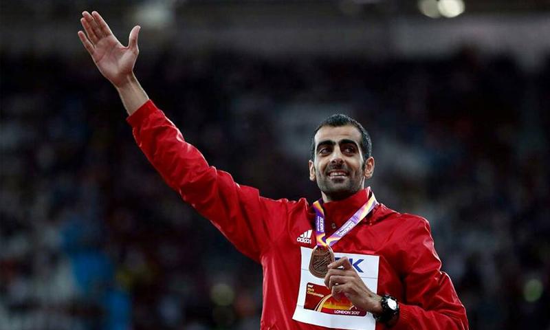 اللاعب السوري مجد الدين غزال يفوز بالميدالية البرونزية في بطولة العالم لألعاب القوى - الاثنين 14 آب - (انترنت)