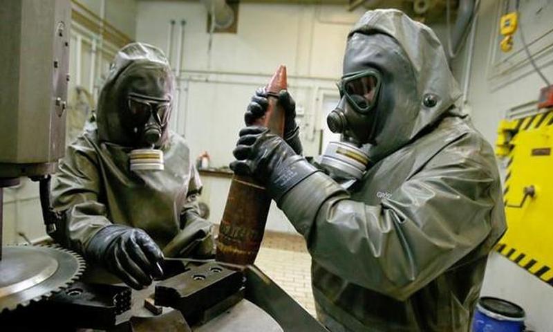 تفكيك السلاح الكيماوي السوري (مركز توثيق الإنتهاكات الكيميائية في سوريا)تفكيك السلاح الكيماوي السوري (مركز توثيق الإنتهاكات الكيميائية في سوريا)
