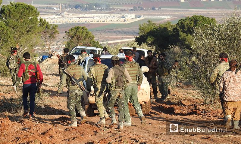 """مقاتلو """"الجيش الحر"""" المشاركون في معارك عفرين - 1 شباط 2018 (عنب بلدي)"""