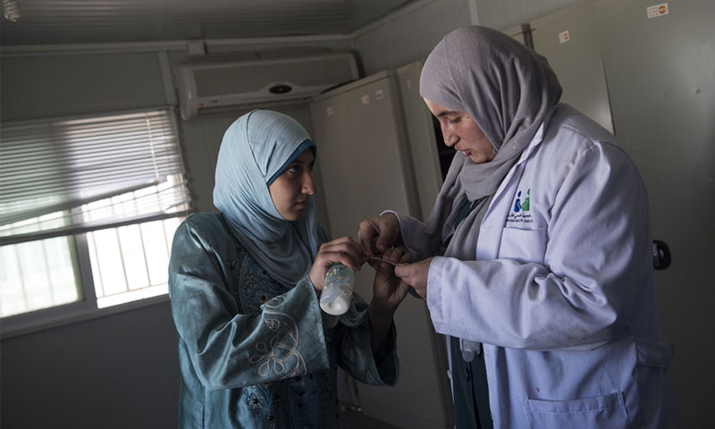 لاجئة سورية في الأردن (lynseyaddario.com)