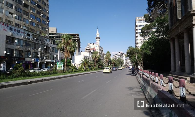 شارع النصر في وسط العاصمة دمشق – 6 من حزيران 2018 (عنب بلدي)