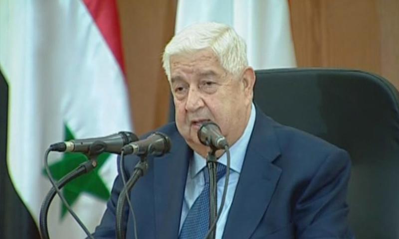 وزير الخارجية السوري، وليد المعلم- (سانا)