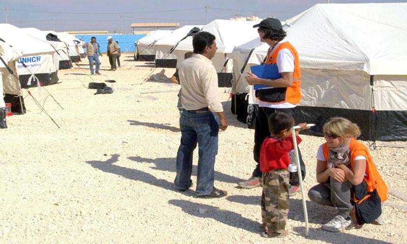 مخيمات اللاجئين في الأردن -صورة تعبيرية (انترنت)
