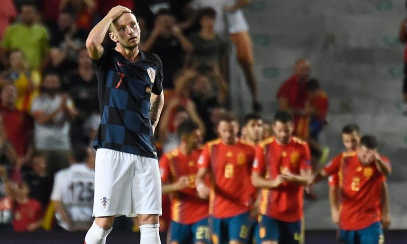 مواجهة كرواتيا وإسبانيا في دوري الأمم الأوروبية (AFP)