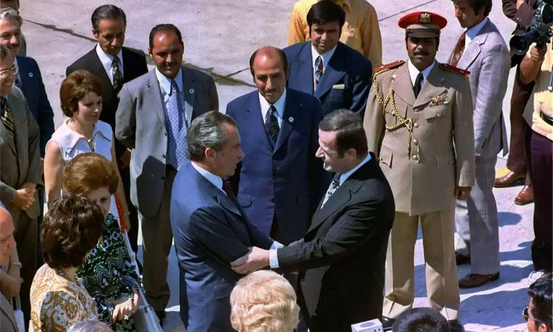 نيكسون والأسد في دمشق 1974 (الأرشيف العالمي)
