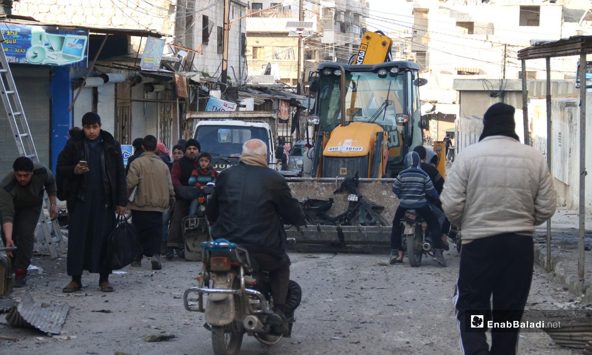 آثار القصف على معرة النعمان جنوبي إدلب - 29 من كانون الثاني 2019 (عنب بلدي)