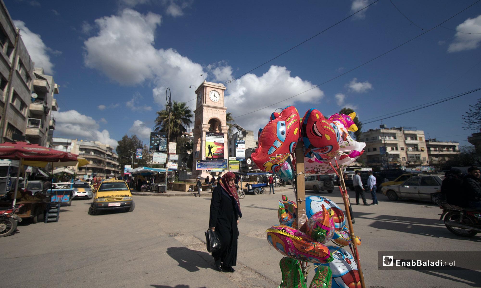 أسواق مدينة إدلب - 10 من نيسان 2019 (عنب بلدي)