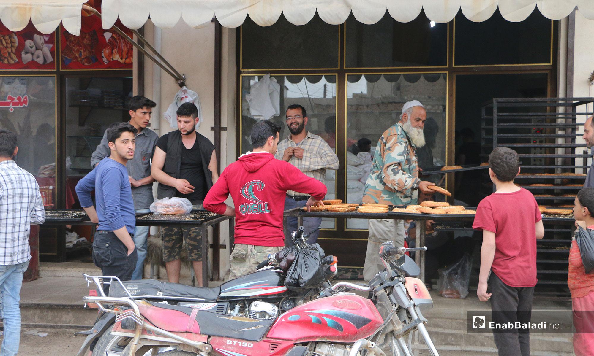 أسواق مارع في أول أيام رمضان بريف حلب الشمالي - 7 من آيار 2019 (عنب بلدي)