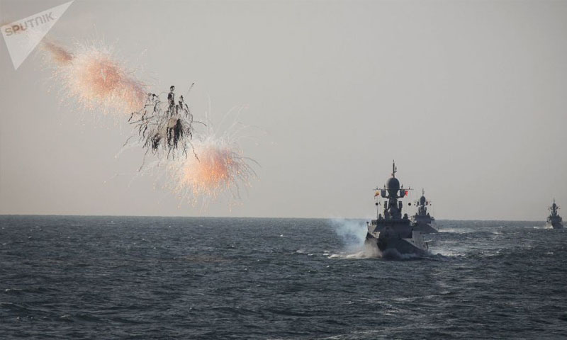 بارجة حربية روسية في البحر المتوسط - 30 آب 2018 (سبوتنيك)