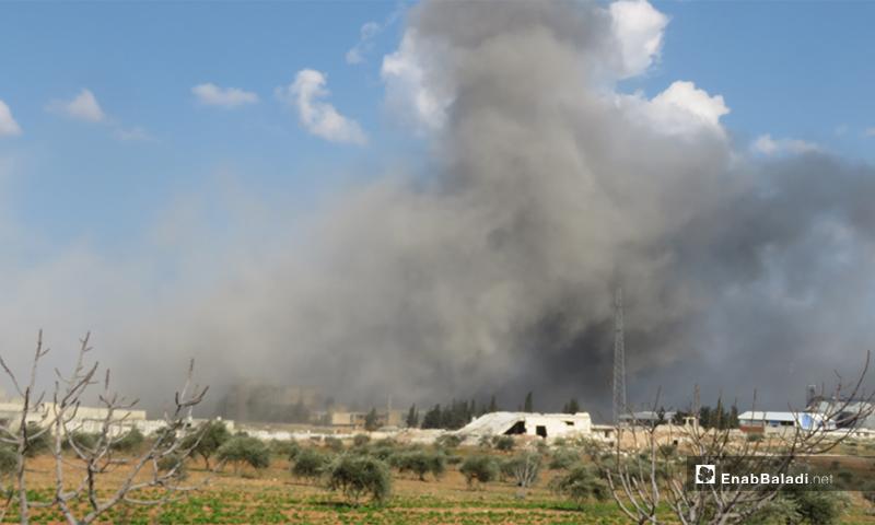 آثار قصف قوات النظام على مدينة إدلب - 25 شباط 2020 (عنب بلدي)