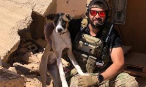 الكلبة هارلي مع الجندي الأمريكي أمجد كيريش في سوريا - 2020 (New York Post)