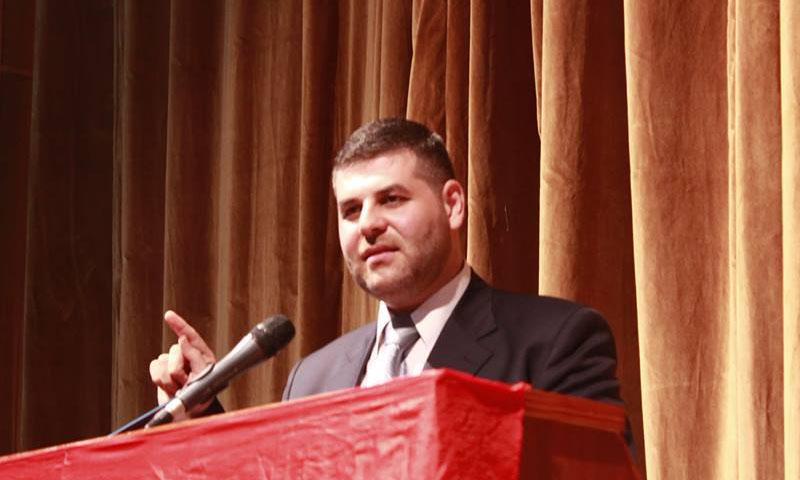 أحمد أديب أحمد عضو المجمع العلوي (صفحة أحمد أديب أحمد في فيس بوك)