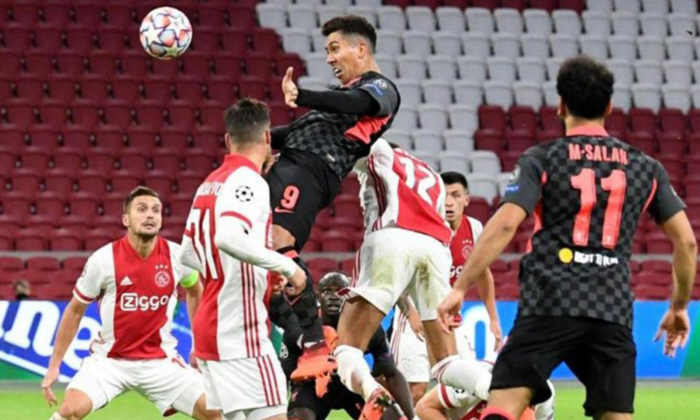 ليفربول وأياكس أمستردام في مباراة دوري أبطال أوروبا - 21 تشرين أول 2020 (رويرتيرز)