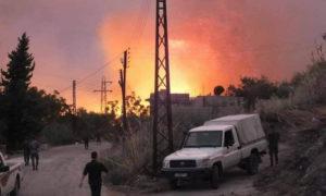 إخماد الحرائق المندلعة في ريف اللاذقية، 9 من تشرين الأول 2020 (تشرين)