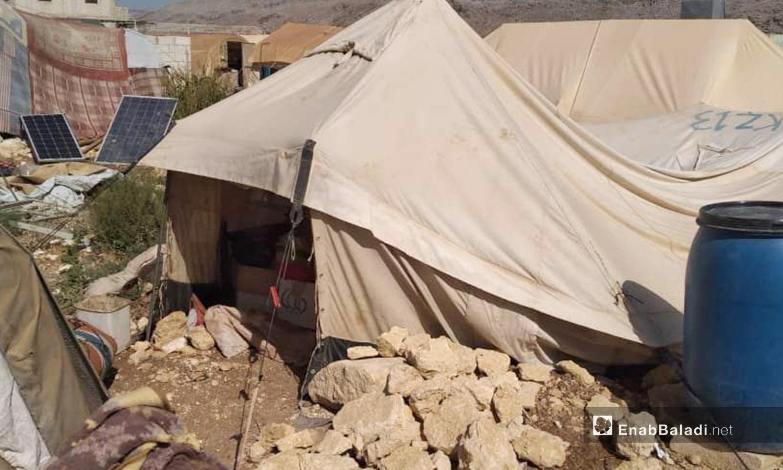 شكل الخيام في مخيم كبتة