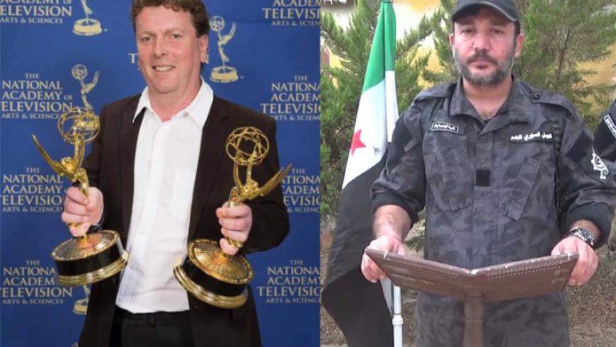 المخرج البريطاني جيمي دوران والقيادي أدهم الكراد