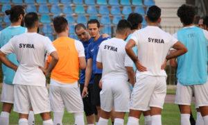 من معسكر المنتخب السوري الأخير في العاصمة السورية دمشق تشرين الأول 2020 (اتحاد كرة القدم/ فيس بوك)