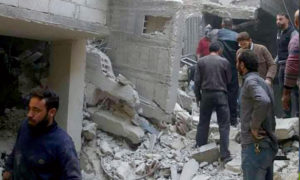 انهيار مبنى في بيت سحم بدمشق، 23 تشرين الثاني 2020 (بيت سحم الآن/ فيس بوك)