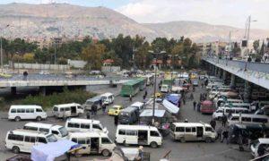 جسر الرئيس في العاصمة السورية دمشق، 12 من تشرين الثاني 2020 ،نورث برس)