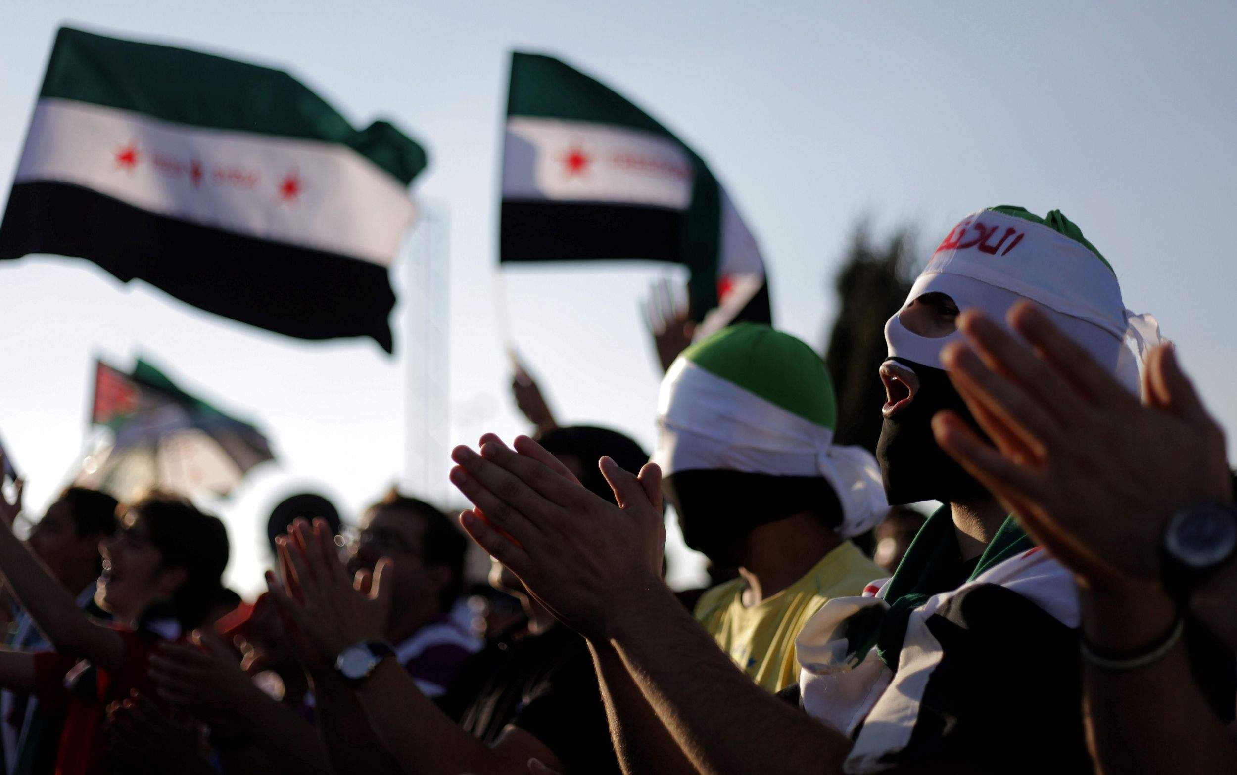 Demonstrations against the Syrian regime in the capital of Jordan, Amman, in 2011 (AP)
