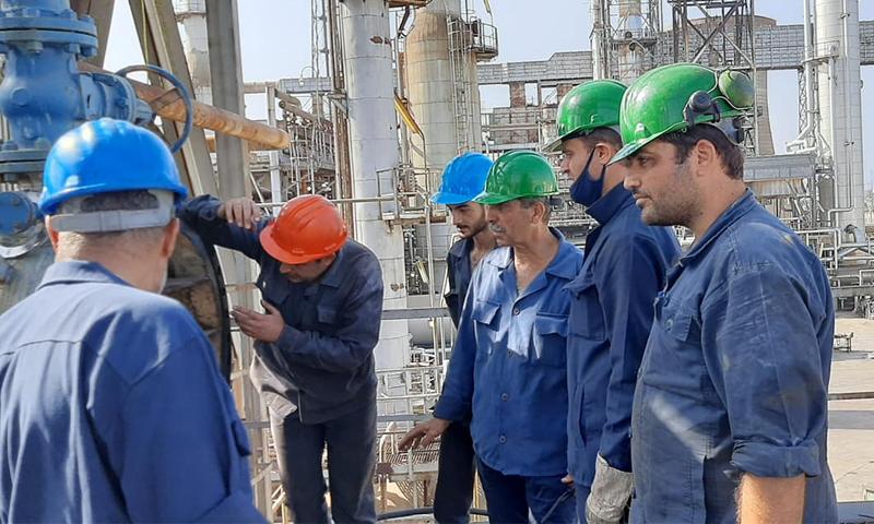 Technicians at Baniyas Refinery - 30 September 2020 (Baniyas Refinery / Facebook)