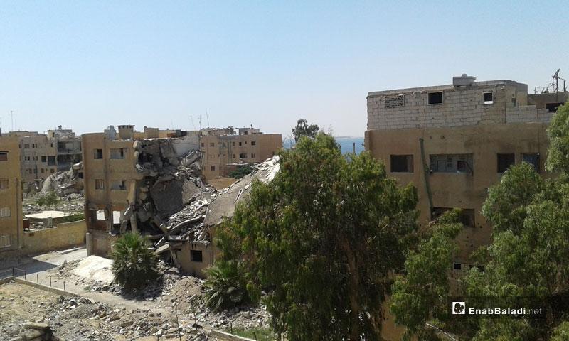 The destruction in al-Tabqa city - 05 July 2018 (Enab Baladi)