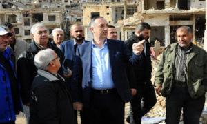 The governor of Rif Dimashq governorate Alaa Ibrahim in al-Zabadani area - 06 December 2018 (SANA)