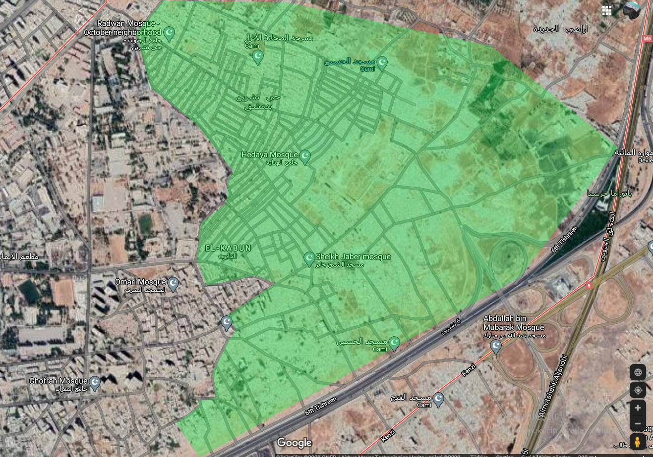 An image revealing the level of destruction caused by the bombing and battles that the al-Qaboun neighborhood in Damascus has experienced - media analyst Qusay Abd al-Bari - 2020