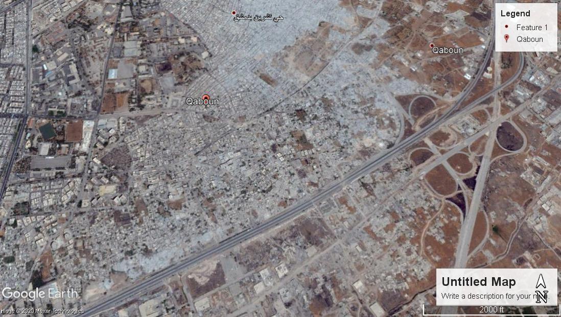 An image of the al-Qaboun neighborhood from Google Maps - 02 July 2017