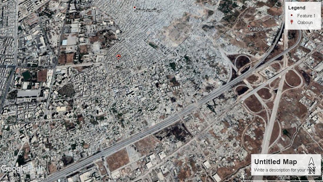 An image of the al-Qaboun neighborhood from Google Maps - 06 May 2017
