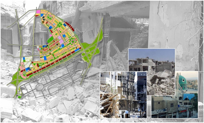 The proposed regulatory plan of al-Qaboun neighborhood in Damascus - edited by Enab Baladi - 2020